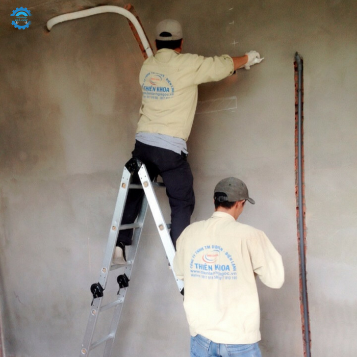 Thi công âm tường ống đồng máy lạnh chuyên nghiệp