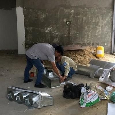 Thi công máy lạnh giấu trần và máy lạnh treo tường khu Villa Riviea Cove, Q9
